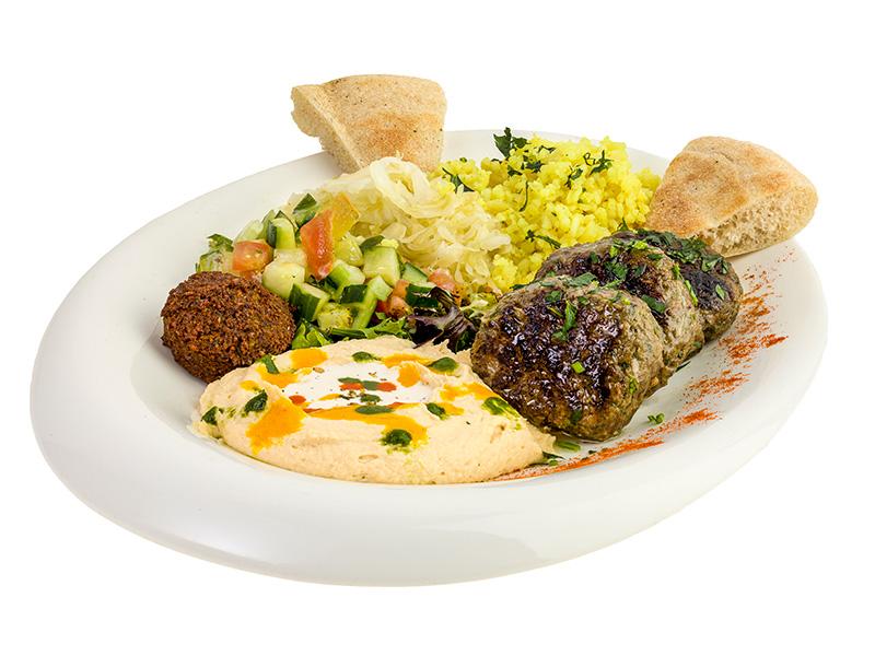Beef Lamb Kebab Plate